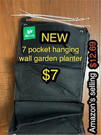 7 pocket hanging wall garden planter  Las Vegas, 89113