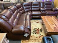 Espresso- gray leather sectional available reclining sectional recliner  Jacksonville, 32246