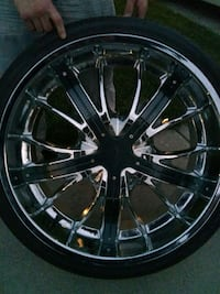 24 inch chrome rims with carbon fiber brand new ti West Jordan, 84081