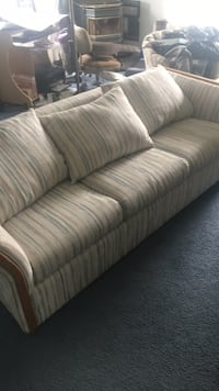Gray and white striped 3-seat sofa Moxee, 98936