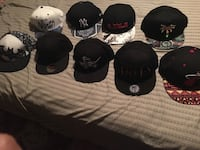 Hats pt 1, assortment of fitted and snapback hats