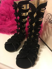 Girls Black Leather Sandals Size 9 Edinburg, 78539