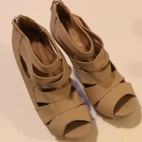Strappy Nude Wedges  896 mi
