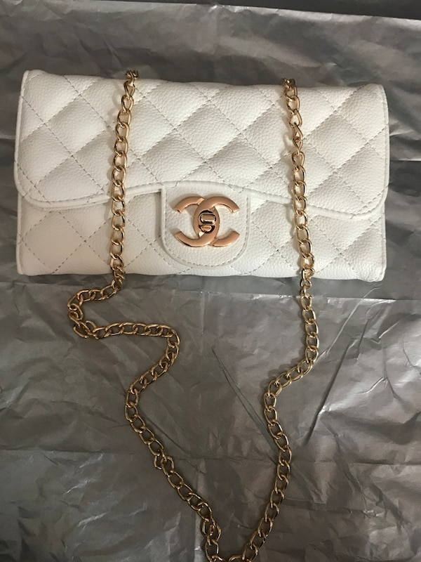 43db22eb2048 Used white chanel quilted leather crossbody bag for sale in Richmond ...