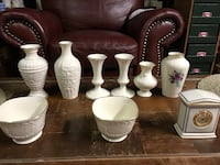 Lennox china vases and misc. pieces