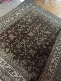 brown and white floral area rug Brossard, J4Z 1P1