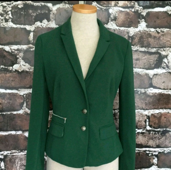 Esley Green Blazer Jacket Fitted Suit Coat Small 70de8b5c-b050-48a1-b3ae-cfb199b7c727