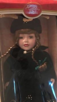 Holiday Place blonde haired female porcelain doll in box Ellicott City, 21043
