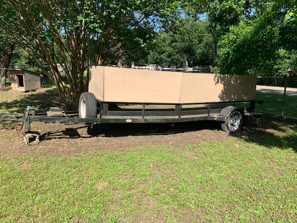 Homemade Trailer with Removable Sides