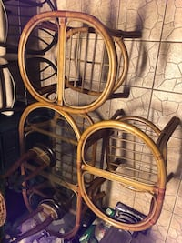 Coffee and side tables with glass, 2 lamps Clearwater, 33755