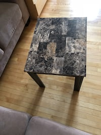 Rectangular black & brown coffee table Montréal, H8R 1X9