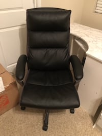Black leather comfortable computer chair Chino, 91708
