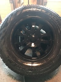 Ford F-150 Aluminum rims and almost brand new tires Vaughan, L4J 0H8