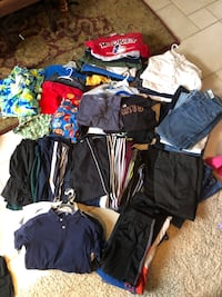 Boys clothes and Small mens clothes, cleats