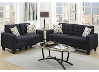 BRAND NEW! STRIKING SOFA & LOVESEAT SET WITH CONTEMPORARY LOOK