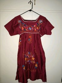 Mexican red dress. S size. West Covina, 91790