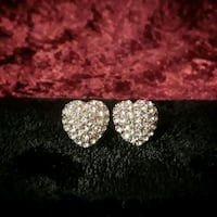 Pair Of Clear Rhinestone Heart Shaped Earrings Tulsa, 74105