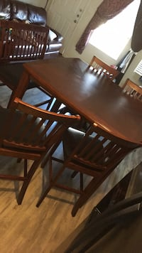Table and 4 chairs with bench Katy, 77449