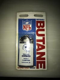 SUPER BOWL 12 XII Football Cowboys Butane Lighter Sterling, 20166