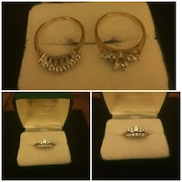 Yelllow gold white diamond ring set  Newmarket, L3X