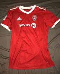 Red adidas climacool soccer jersey