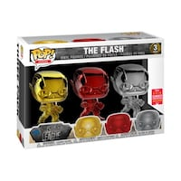 New Funko POP! Justice League Flash Chrome Pack SDCC 2018 Manassas Park, 20111