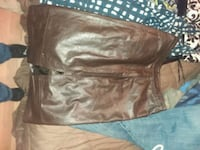 brown leather zip-up jacket Florence, 39073