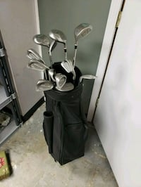 black golf bag with golf clubs Lee's Summit, 64063