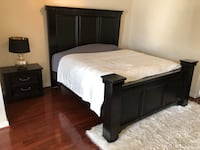 Black bedroom set. To include bed frame and two dressers. Negotiatable Hyattsville, 20785