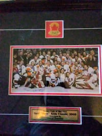 Framed and autographed golf kids classic Hockey picture