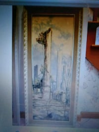 brown wooden framed painting of trees 336 mi