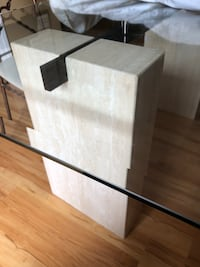white and brown wooden TV stand North Vancouver, V7K 1E7