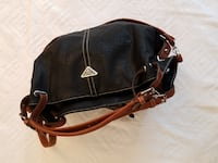 PRADA leather bag black with brown straps Manassas