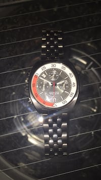 round silver chronograph watch with silver link bracelet Fairfax, 22032