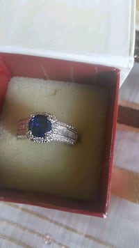 silver and blue gemstone ring Chestermere, T1X 1S5