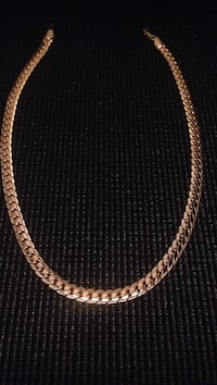 gold chain-link necklace