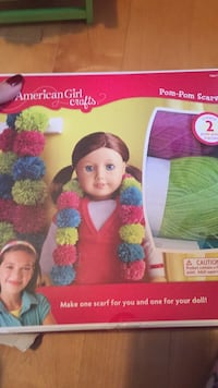 New arts and crafts. Brand new American girl crafts! Only $18, Pom- Pom scarves. Make a scarf for you and one for your doll! Check out my other Ag items! Laval, H7Y 2C1