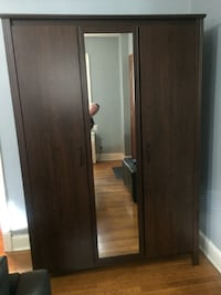 brown faux wood Ikea armoire Washington