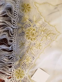 Scarf white with gold embroider Great Falls, 22066