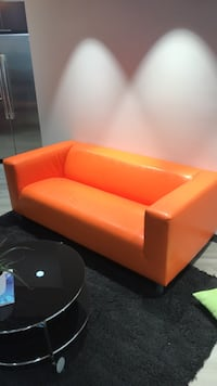 Orange couch Reston, 20190