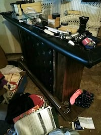 black and leather trimmed vintage bar/ collapsible Houston, 77055