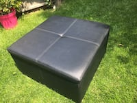 Black Faux Leather Ottoman Colorado Springs, 80905