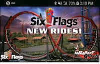 Sixflags day passes with free parking  Fort Worth, 76112