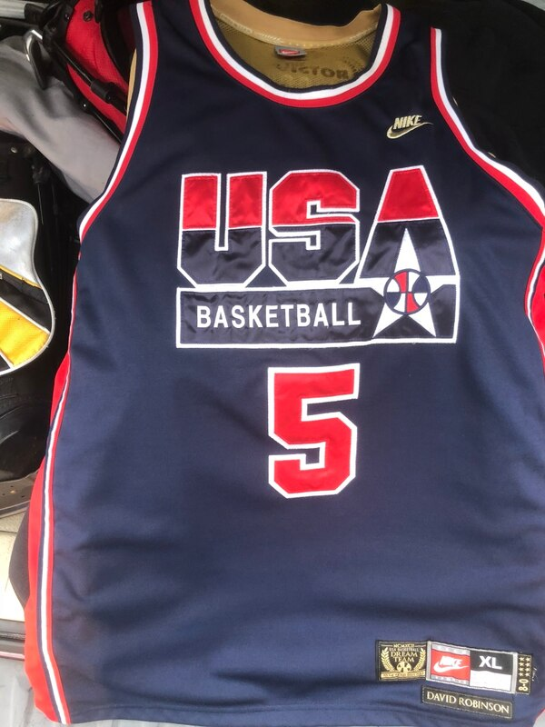 a29a36049be0 Used Official David Robinson Team USA Dream Team 1992 Nike barely worn  throwback basketball Jersey with gold inside. for sale in New York - letgo