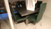 Kitchen table with 6 leather chairs /green Toronto, M9W 3K6