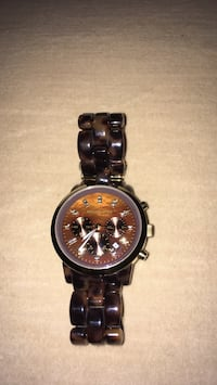 Women's Michael Kors Tortoise acrylic watch excellent condition Oakville, L6K 1Y8