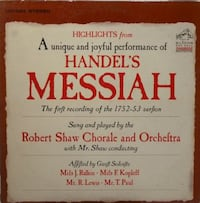 Handels Messiah conducted by Robert Shaw