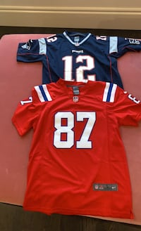NFL patriots Brady Gronk youth large