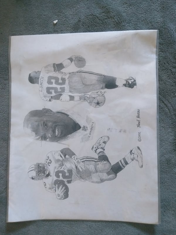 Emmit Smith Sketch by Frank Nareau from 2002  8d71101b-5afe-4684-82d0-b2c6aa2492be