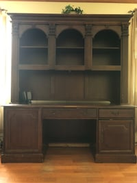 Brown wooden tv hutch with flat screen television Middletown, 07748